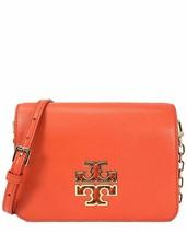 Tory Burch Britten Combo Leather Adjustable Shoulder Bag Spiced Orange, ... - $247.50