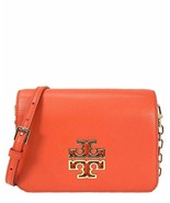 Tory Burch Britten Combo Leather Adjustable Shoulder Bag Spiced Orange, ... - $247.50