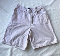 Vintage 90's Womens Gap High Waist Khaki Shorts Size 4 Old School All Cotton - $14.85