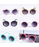 UV Lens Shades Boys Girls Kids Glasses Round Retro Alloy Children Glasses - £9.79 GBP