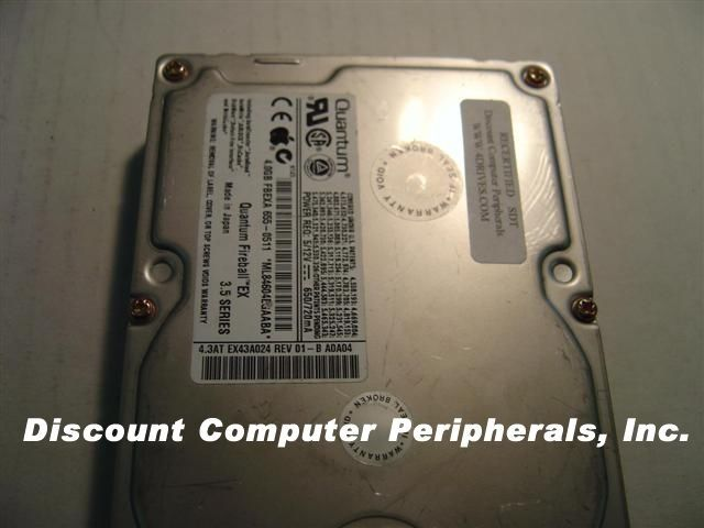 "QUANTUM QM304300EX-A EX43A 4.3GB 3.5"" IDE Drive Free USA Ship Our Drives Work"