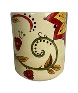 Pier 1 Imports Carynthum Floral Utensil Holder Hand Crafted Earthenware ... - $28.85