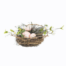 Darice Easter Bird Nest with Flowers: 8.5 x 4 inches w - $10.99