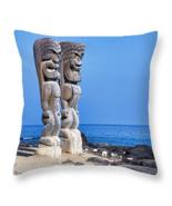 Two Tikis in Paradise, Throw Pillow, seat cushion, fine art, home decor,... - $41.99 - $69.99
