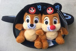 """Disney Parks 2018 Chip and Dale 6"""" Plush in Mickey Mouse Ear Hat New wit... - $11.95"""