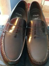 Clark's Cushion Plus Mens Slip On Loafer Leather Shoes Size 12 M Great C... - $39.90