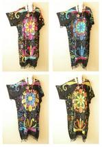Flowers Medallion Kaftan Kimono Nightwear Abaya Gown Maxi Dress - 2X, 3X... - $29.90