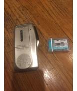 Olympus Pearlcorder S711 Handheld Microcassette Recorder Gold W. Cassett... - $23.33
