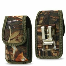 Camouflage Rugged Metal Clip Case fits LG Revere Flip Phones - $14.84