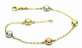 Bracelet en or 18 KT Lentilles en or Jaune Blanc et Rose - $346.83