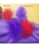 Assorted Large Hair Clip with Red and Purple Feathers ~ Hat Society Fun  - $7.25