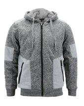 Boy's Soft Sherpa Lined Two Tone Quilted Juniors ZipUp Fleece Hoodie Kids Jacket image 8
