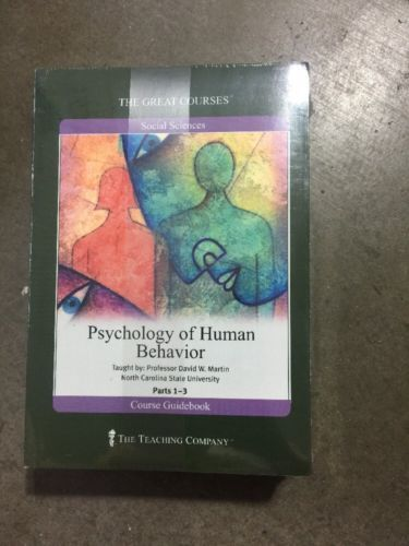 The Great Courses:Psychology of Human Behavior, DVDs 36 Lectures EDUCATIONAL