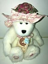 BOYDS BEAR HORIZON OF HOPE L BEARYWELL LONGABERGER 422807 WHITE PINK HAT... - $17.99
