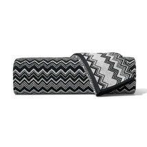 Missoni Keith Black and White Zig Zag Striped Towel - Color 601 - $26.50+