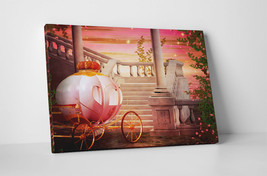 Cinderella Carriage Children Kids Wall Art Gallery Wrapped Canvas Print - $44.50+