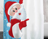 Ghty santa polyester shower curtain bath bathing sheer curtain for home decoration thumb155 crop
