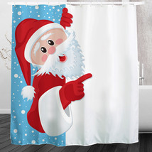 2016 Waterproof Christmas Naughty Santa Polyester Shower Curtain  Bath B... - $31.48