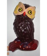 Vintage Owl hand painted Brown 70' Style Sitting on Branch Wall Hanging - $29.99