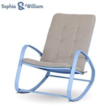 Sophia and William Outdoor Patio Rocking Chair Padded Steel Rocker Chair... - $104.91