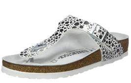 Birkenstock GIZEH Metallic Stones Silver sandal flip flop EU 37  US 6 NO... - $54.31
