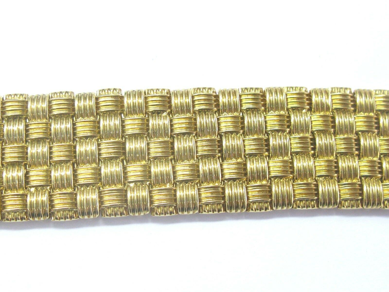 Roberto Coin 18Kt 5-Row Yellow Gold Appassionata Diamond Bracelet .39Ct image 3