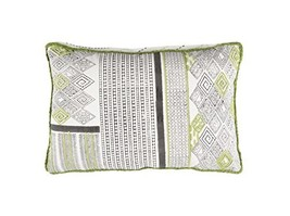 "Diva At Home 22"" Paper White and Apple Green Contemporary Decorative Thr... - $110.38"