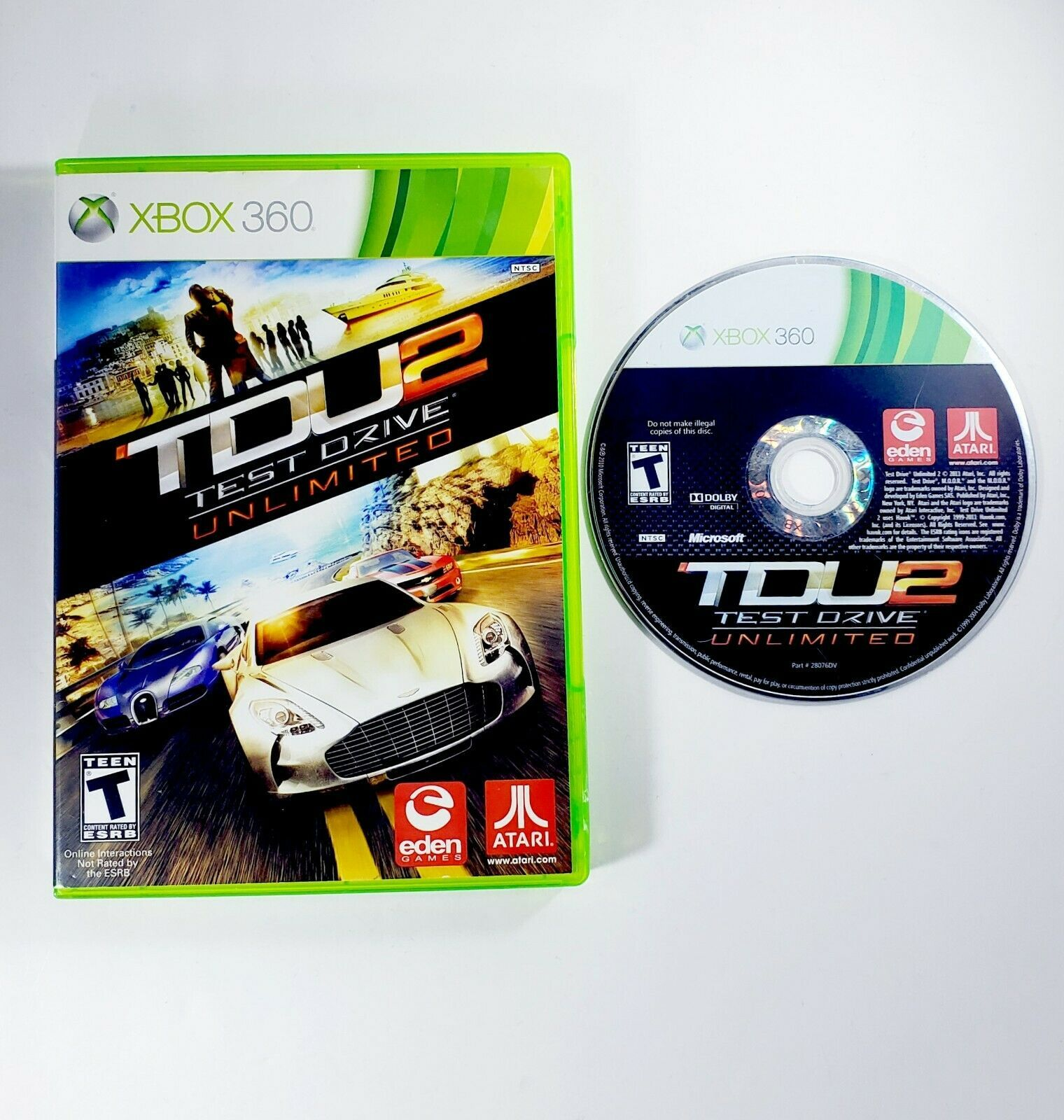 Primary image for Test Drive Unlimited 2 (Microsoft Xbox 360, 2011) Disc & Case - Free Shipping