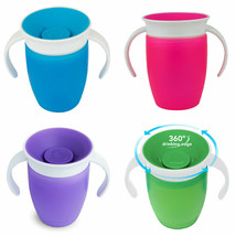 Munchkin Miracle 360 Trainer Cup 207ml 4 Pack All 4 Colours - $42.52