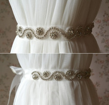 RHINESTONE Sash Belt Wedding Accessories Rhinestone Bridal Bridesmaid Sash NWT image 6