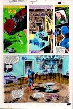 1981 Gene Colan Captain America Annual 5 page 39 Marvel Comics color gui... - $99.50