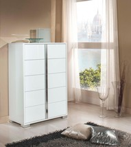VIG Modrest San Marino Modern White Glossy Finish Chest Made In Italy - $765.00