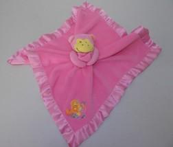 Blankets & Beyond Pink Monkey Security Blanket Lovey Lovie Baby Girl Sat... - $37.41 CAD