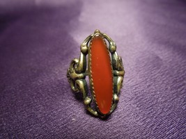 Beau Sterling Silver Decorative Coral Ring - $64.35