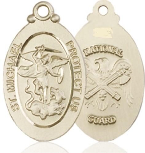 National guard   14kt gold st. michael  medal   4145rkt5