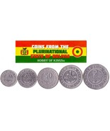 5 BOLIVIAN COINS DIFFERENT SOUTH AMERICAN COINS FOREIGN CURRENCY - $4.94