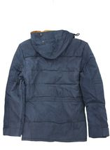 Men's Heavy Weight Sherpa Lined Removable Hood Winter Coat Insulated Navy Jacket image 3