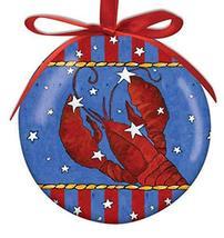 Cape Shore Festive Lobster High Gloss Ball Ornament - $12.50