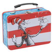 Dr. Seuss Characters Plus Cat In The Hat Large Carry All Tin Tote Lunchb... - $15.43