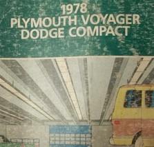 1978 Dodge Compacto & Plymouth Viajero Servicio Tienda Reparar Manual OEM - $9.89