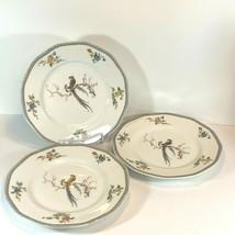 "3 Haviland Paradise Porcelain Place Set Rimmed 9 7/8"" Dinner Plate Dish Chambord - $73.50"