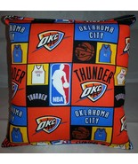 Thunder Pillow Oklahoma City Thunder Pillow NBA OKC Handmade in USA - $9.99