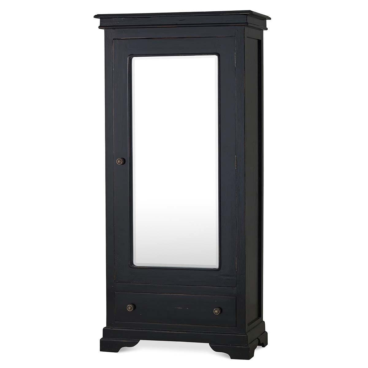 Bramble 24158 Vintage Black Homestead Mirror Wardrobe Solid Wood Special Order