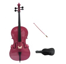 Merano 1/8 Size Hot Pink Cello with Pink Bow+Soft Carrying Bag+Free Rosin  - $329.99