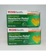 CVS Extra Strength Headache Relief 80 Geltabs Exp 3/22 Lot of 2 - $19.79