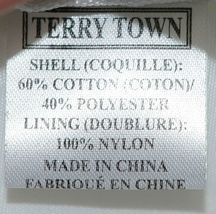 Terry Town CBW001 Waffle Weave Cosmetic Bag Color White image 4