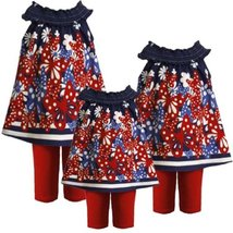 Bonnie Jean Baby Girl 3M-24M Navy-Blue Butterfly Border Print Dress/legging Set image 2