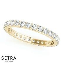 Certified Round Cut Diamond Eternity Wedding Band 14k Gold - $1,382.50