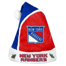 NHL New York Rangers 2015 Style Basic Santa Hat by Forever Collectibles - $23.99
