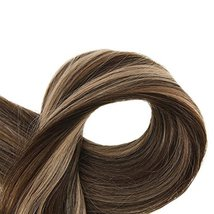 "Easyouth Natural Hair Weft Remy Human Hair Sew in Hair Extensions 14"", 70g, Colo image 3"